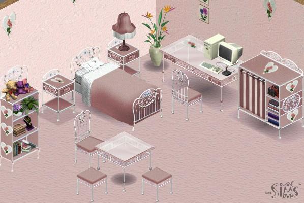 Chambre romantique pour jeune fille